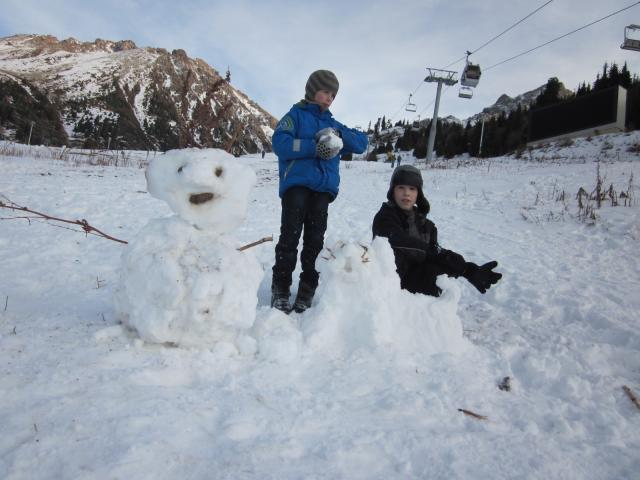 Снежное творение.